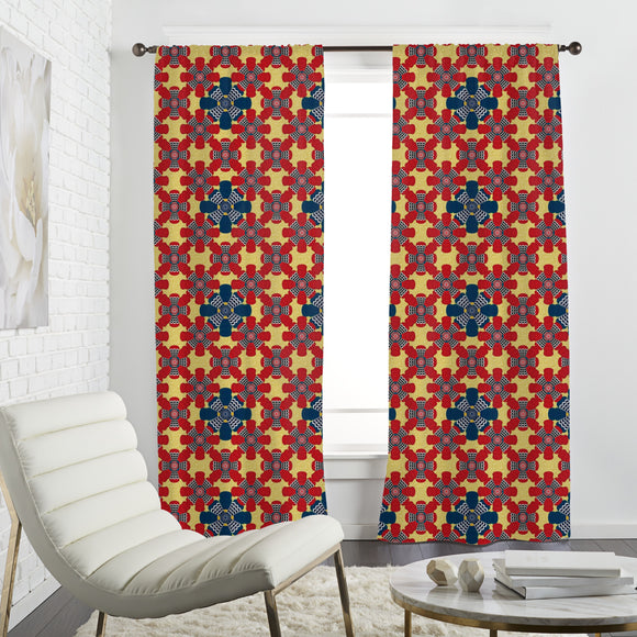 African Illusion Curtains