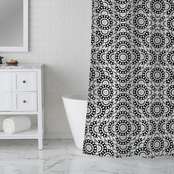 Straight Chaos Shower Curtain