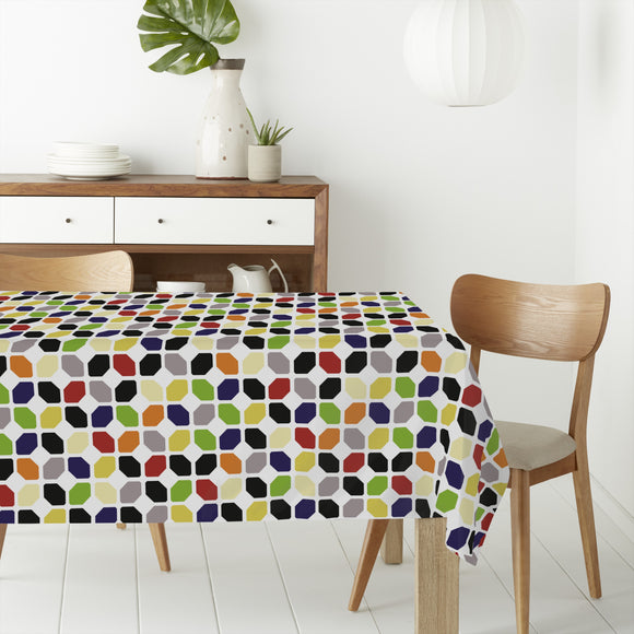 Floor tilers work Rectangle Tablecloths