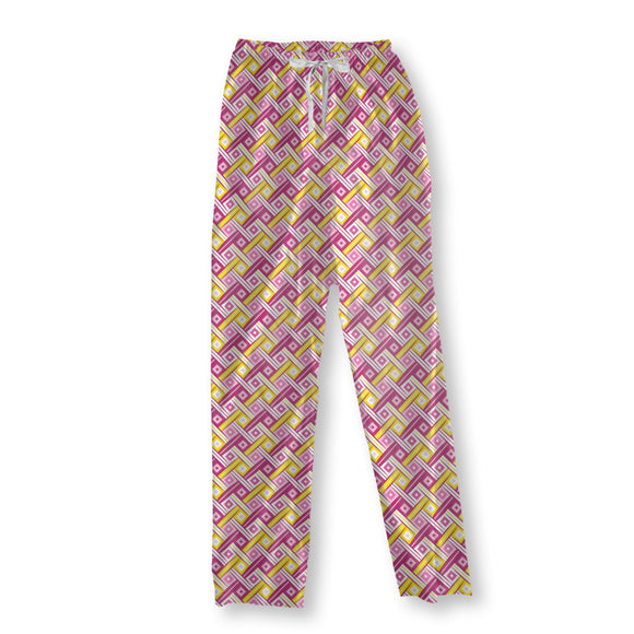 Stylized Fabric View Pajama Pants