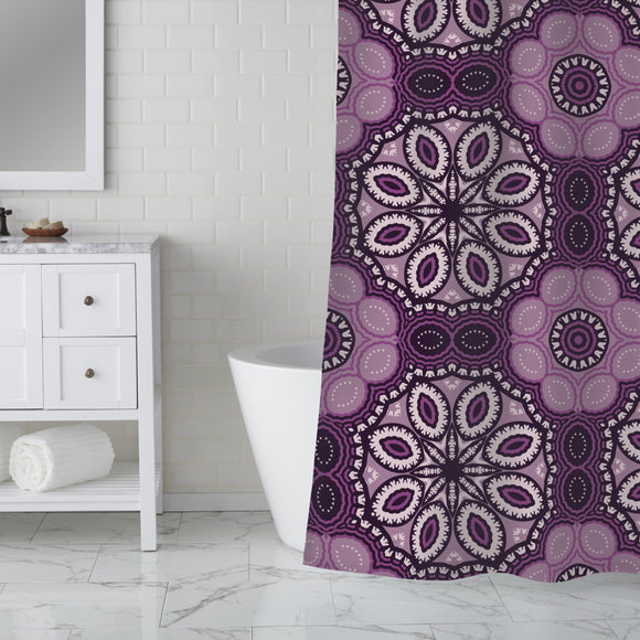 Round repetition Shower Curtain