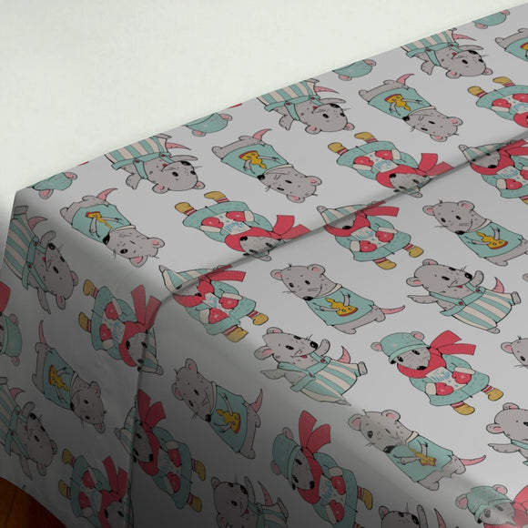 Cartoon Mice Flat Sheets