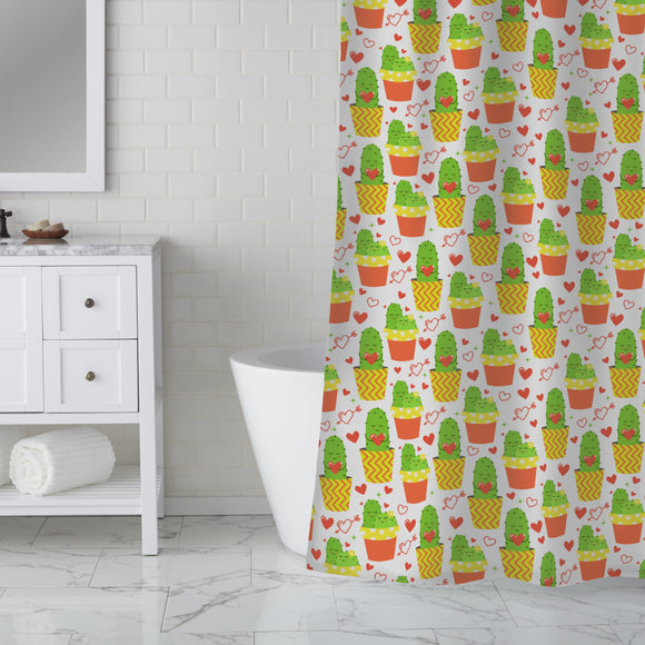 Loving cactus Shower Curtain