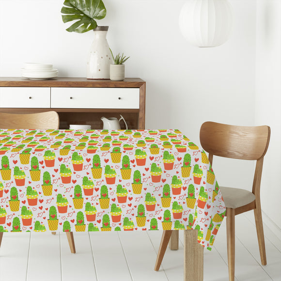 Loving cactus Rectangle Tablecloths