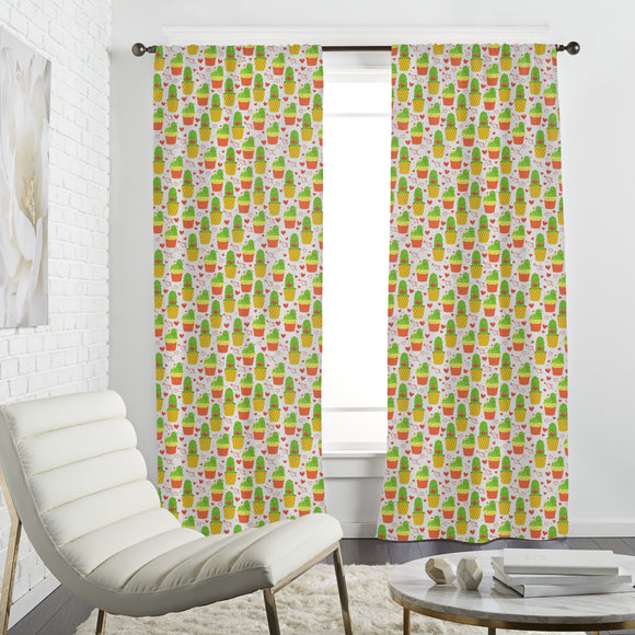 Loving cactus Curtains