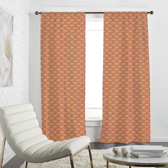 Sunflower Stamps Curtains