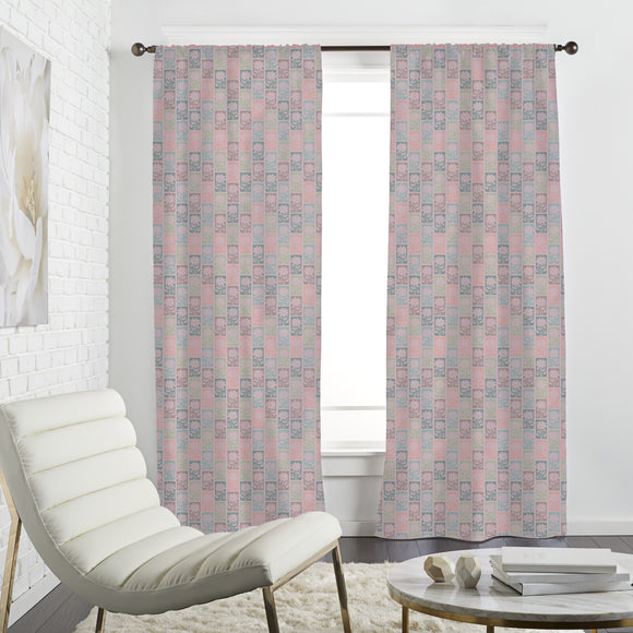 Sunflower Tiles Curtains