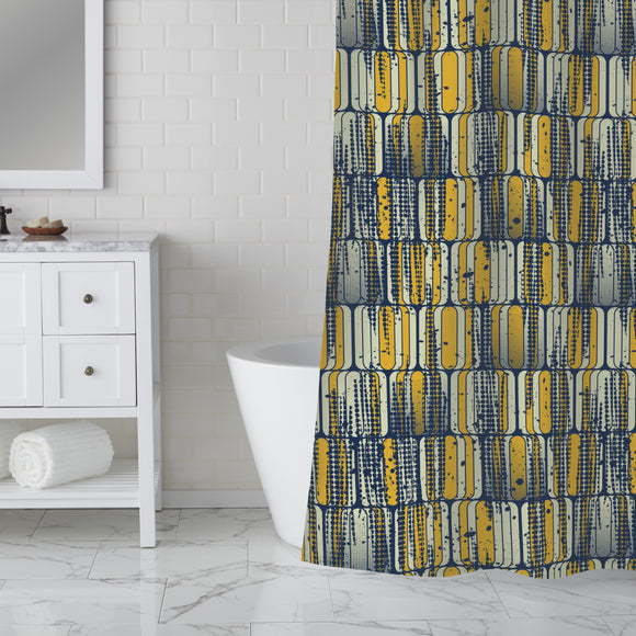 Grungy sixities Shower Curtain