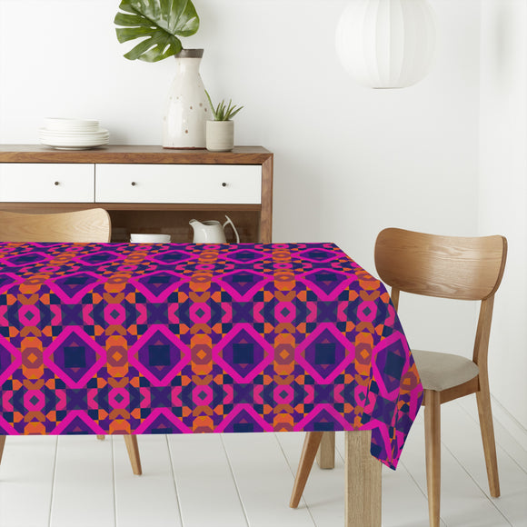 70s Psychedelic Wall Rectangle Tablecloths