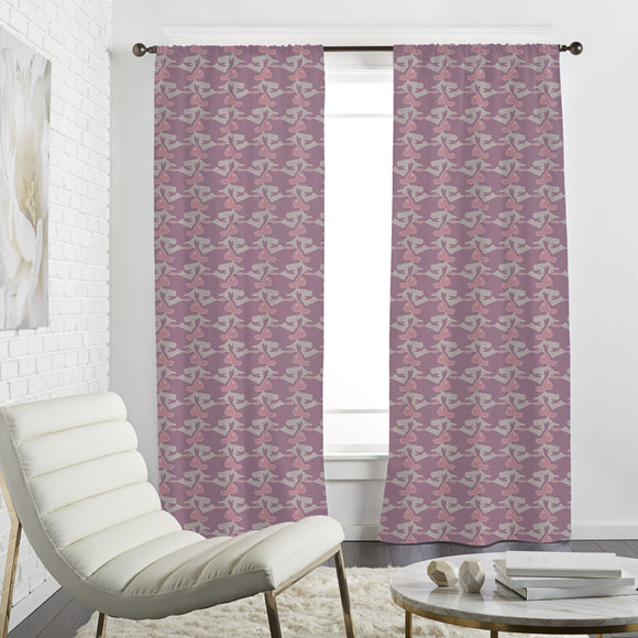 Overlapping Rabbits Curtains