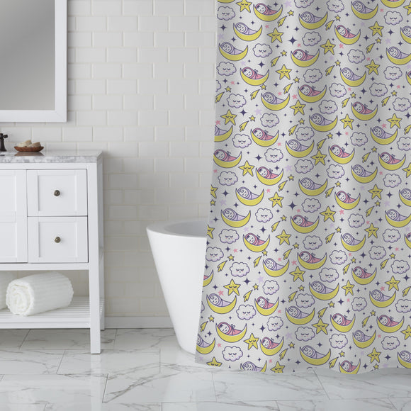 Dreaming Babies Shower Curtain