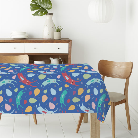 Rabbit swirl Rectangle Tablecloths