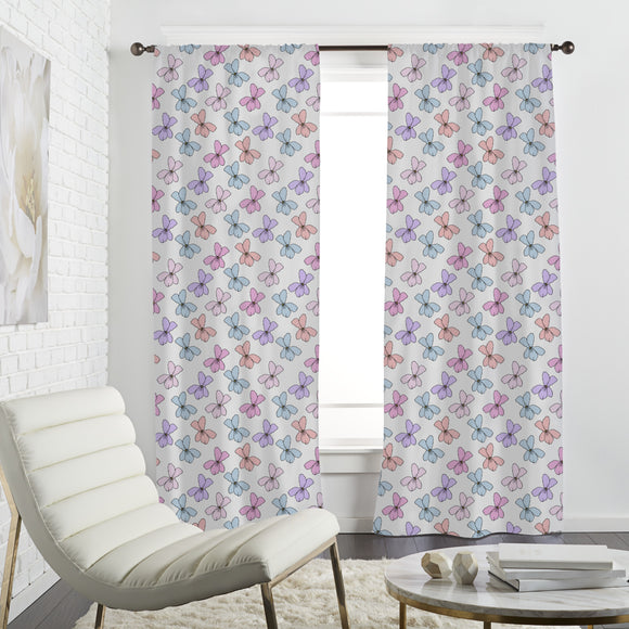 Spring violet Curtains