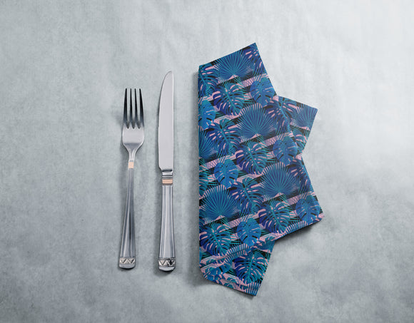 Tropical 1980s With Stripes Napkins