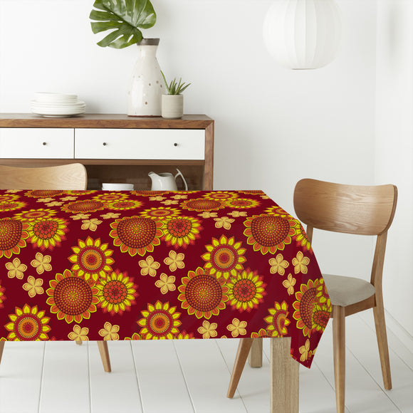 Summer in orange Rectangle Tablecloths