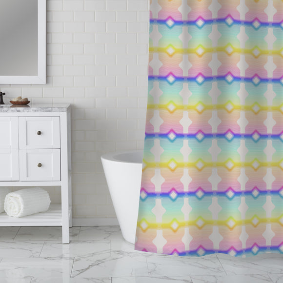 Eighties love Shower Curtain