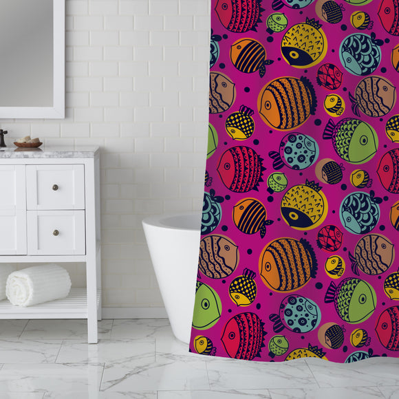 Cute underwater world Shower Curtain