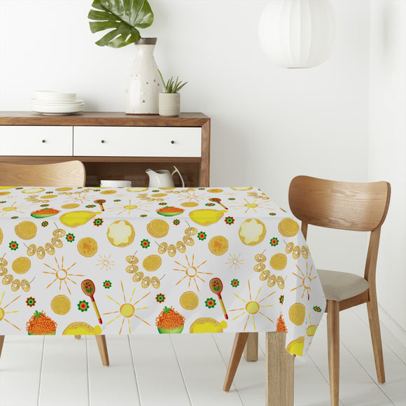 Pancakes Surrounded By Decorative Suns Rectangle Tablecloths