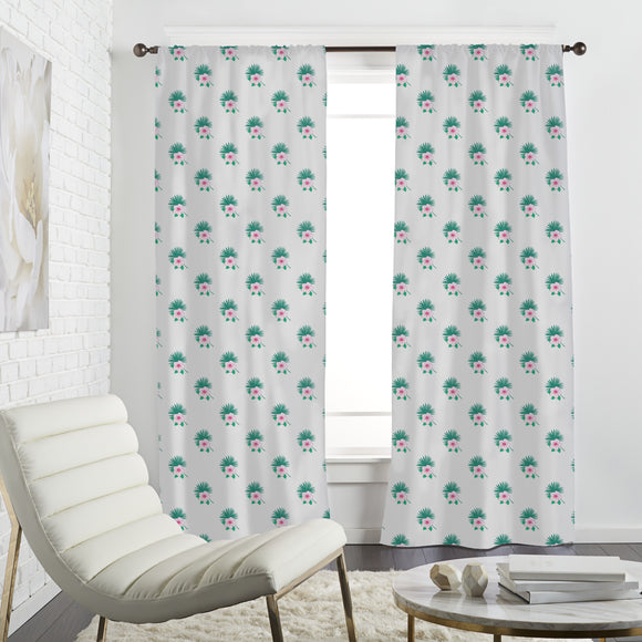 Simple Exotic Bouquets Curtains