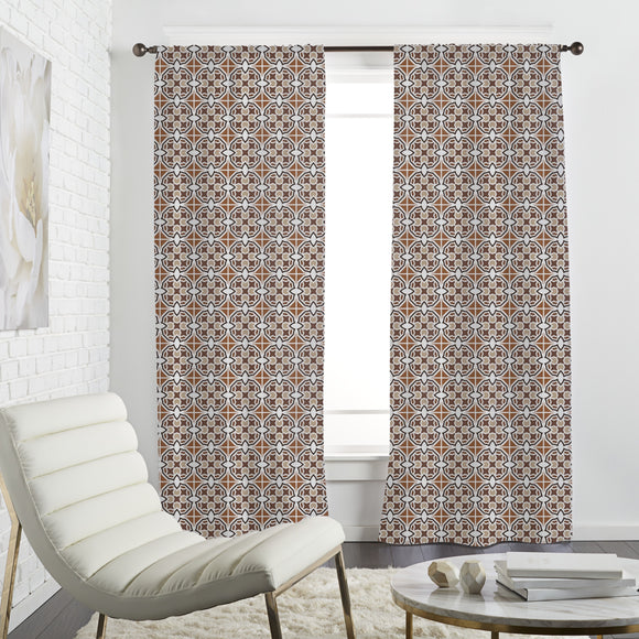 Moroccan Striped Tile Curtains
