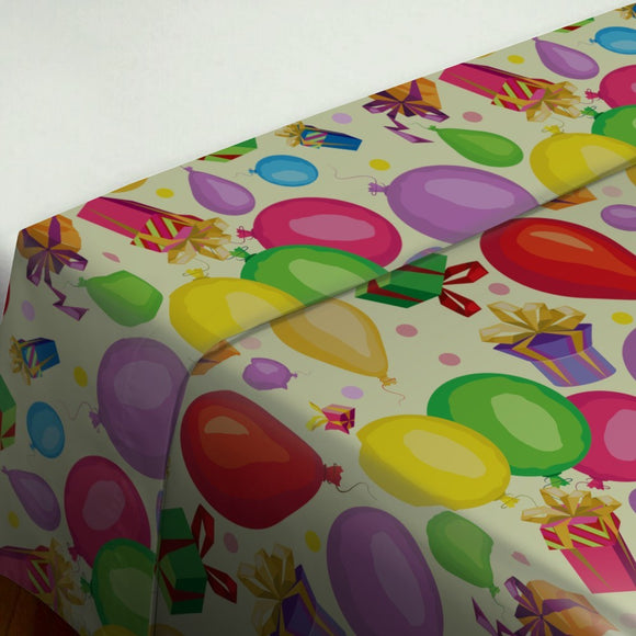 Gifts and balloons Flat Sheets