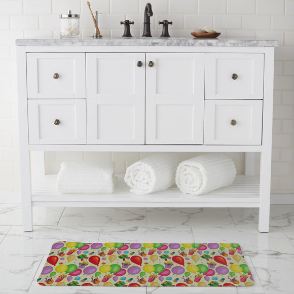 Gifts and balloons Bathroom Rug
