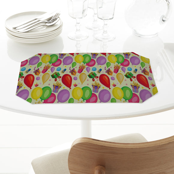 Gifts and balloons Placemats