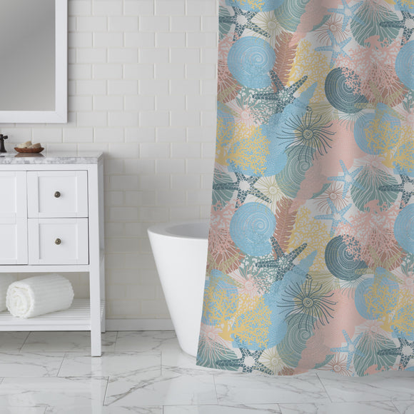 Life in the sea Shower Curtain