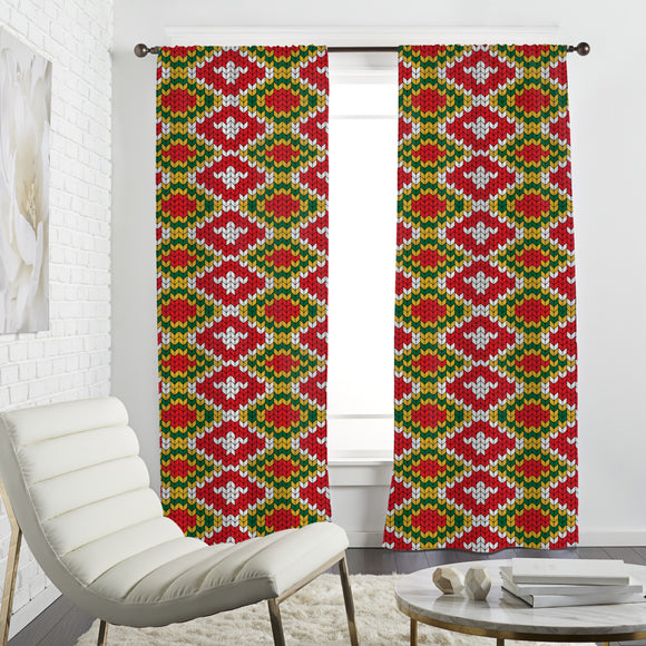 Knitted geometric Curtains