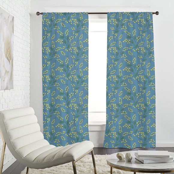 Delicate Spring Flowers Curtains