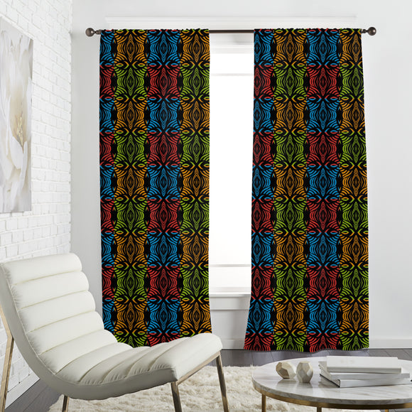 african squares Curtains