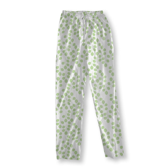 Fresh spring leaves Pajama Pants