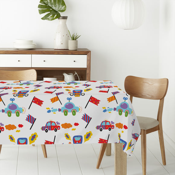 Toy Cars Rectangle Tablecloths