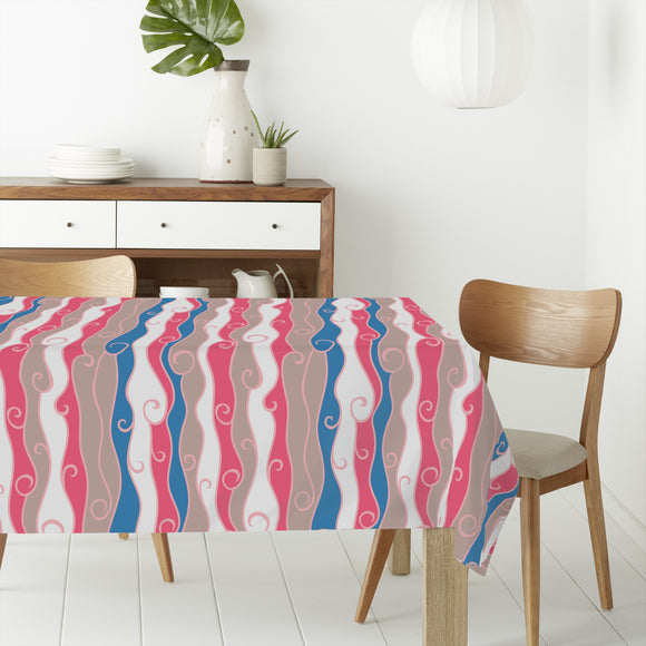Wavey Waterfall Rectangle Tablecloths