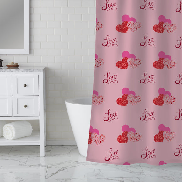 The shape of love Shower Curtain