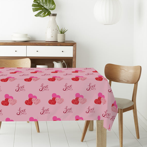 The shape of love Rectangle Tablecloths