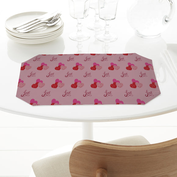 The shape of love Placemats