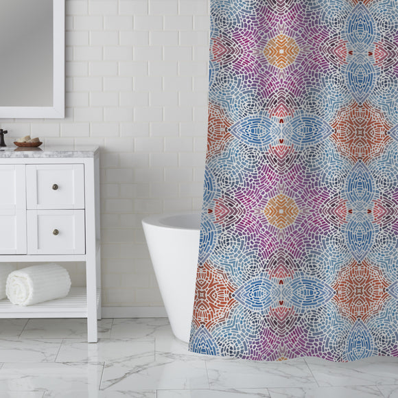 Floor Mosaic Shower Curtain
