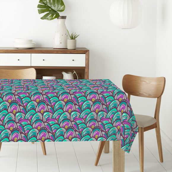 Overlapping Clams Rectangle Tablecloths