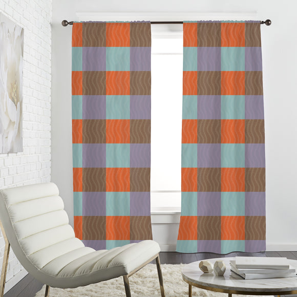 Floral square Curtains