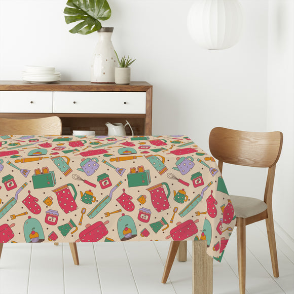 Kitchen Stories Rectangle Tablecloths