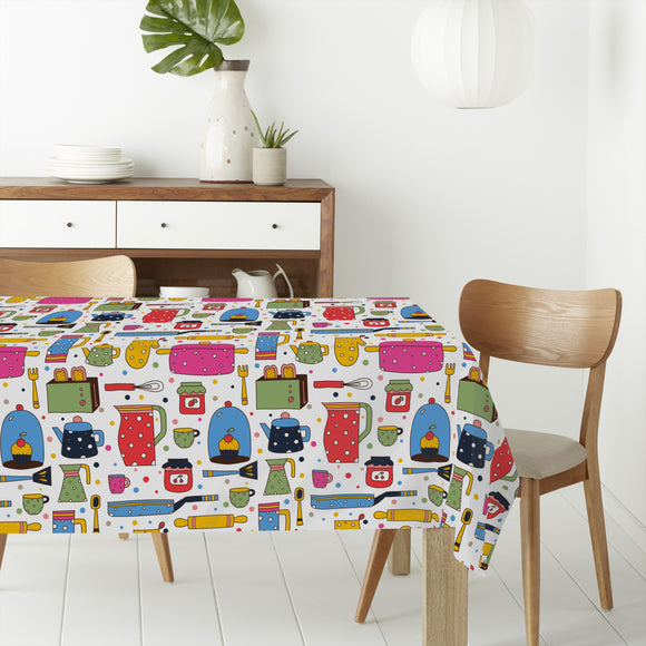Lovely Kitchen Stories Rectangle Tablecloths