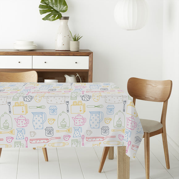Silhouettes of kitchen things Rectangle Tablecloths