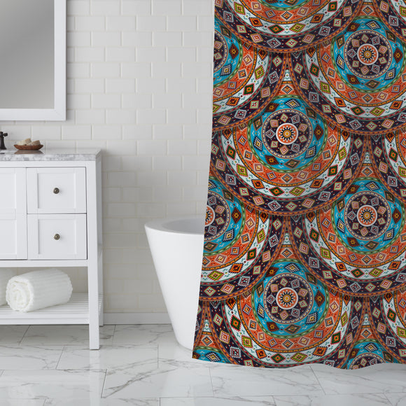Native Amarican Summer Wheel Shower Curtain