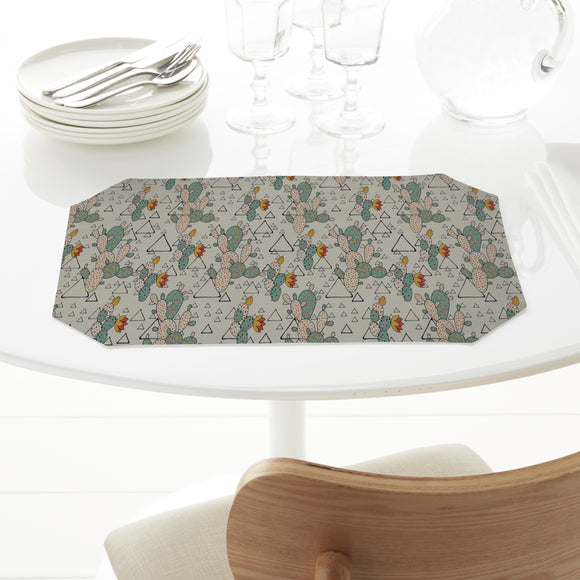 Prickly Pear Cacti and Triangles Placemats