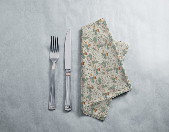 Prickly Pear Cacti and Triangles Napkins