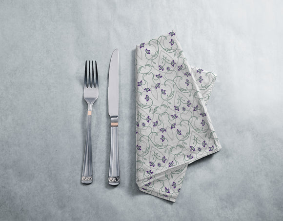 Flowers On The Gothic Gate Napkins