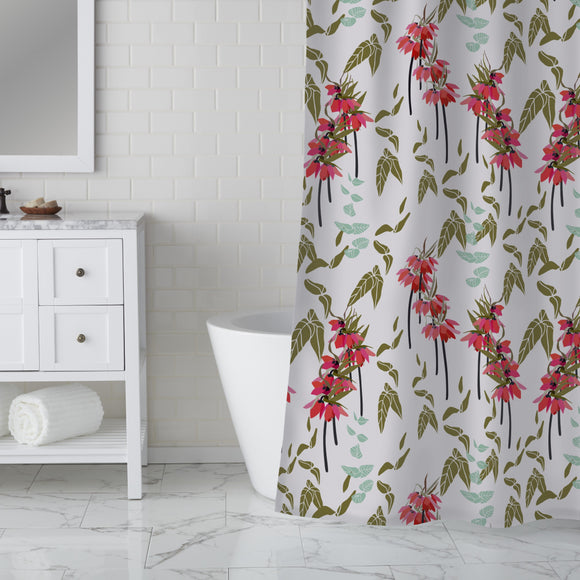 Lovely lilies flowers and leaves Shower Curtain