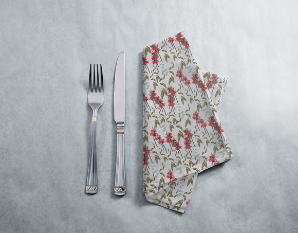 Lovely lilies flowers and leaves Napkins
