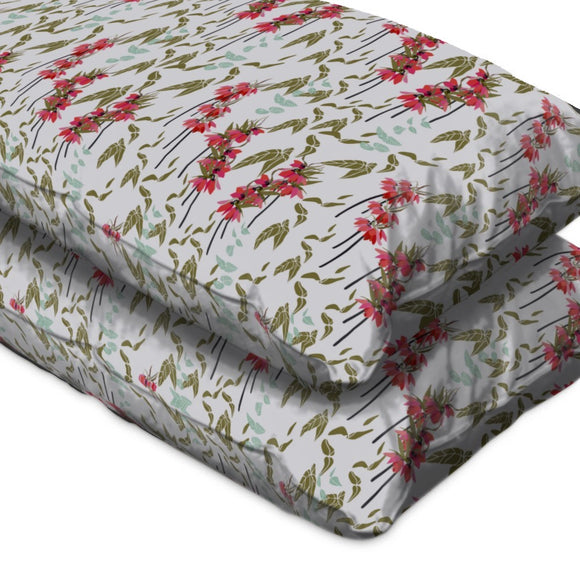 Lovely lilies flowers and leaves Pillow Case